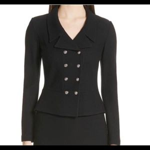 St. John Black Gail Knit Jacket Blazer